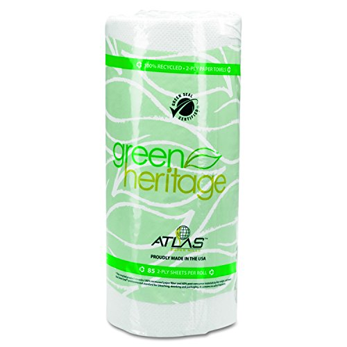 - Green Heritage 585 Kitchen Paper Towel Roll, 2-Ply, 9
