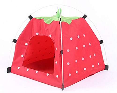 Happy- little -bear Stampa Impermeabile Telo Impermeabile Pieghevole Portatile Pet Tent Pets Nest Red