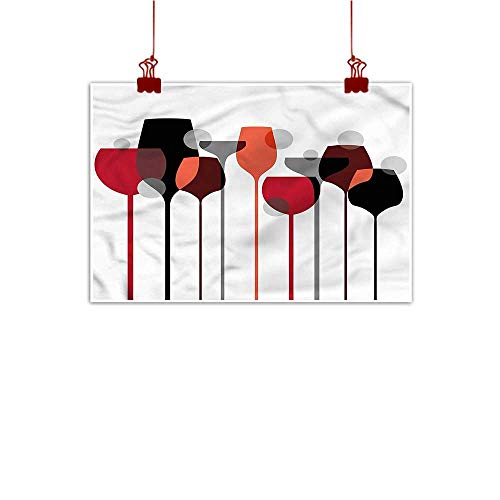 Mangooly Fabric Cloth Rolled Wine,Abstract Glasses Stylized 28