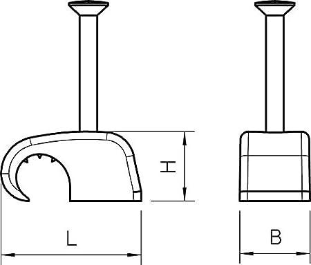 50er Set OBO Bettermann Nagelschelle f/ür Kabel mit einem Durchmesser von 7-12 mm mit einem 35 mm Nagel