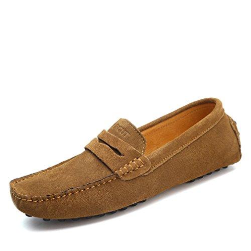 mocassins cuir doux d'été conduite mocassins Mode Lumino appartements chaussures Khaki en véritable Style chaussures hommes hommes g85wY5nIq