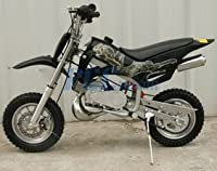 49cc 50cc Black 2-Stroke Gas Motorized Mini Dirt Pit Bike