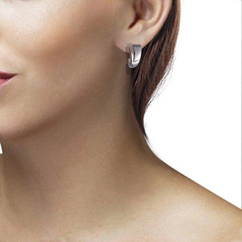 Goldmaid - Sd O6118S - Boucles d'Oreille Femme - Argent 925/1000 4.0 Gr - Diamant