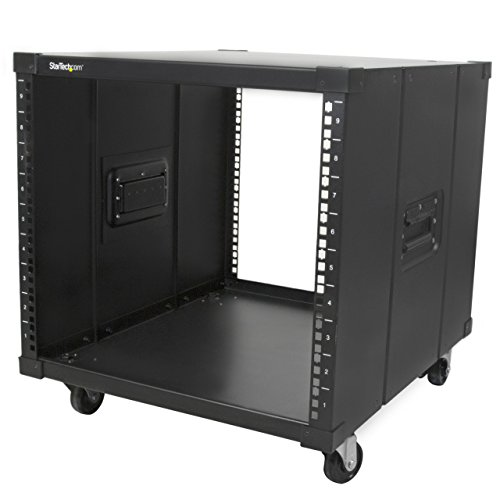 StarTech.com Portable Server Rack with Handles – Rolling Cabinet – 9U