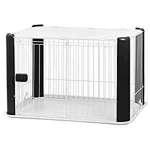 IRIS Small Wire Dog Crate with Mesh Roof, Black Click on image for further info.