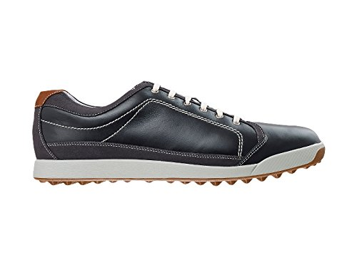 Mens Footjoy Footjoy Contour Casual Golf Shoe Black/Brown Size 9.5 M US (Footjoy Shoes compare prices)