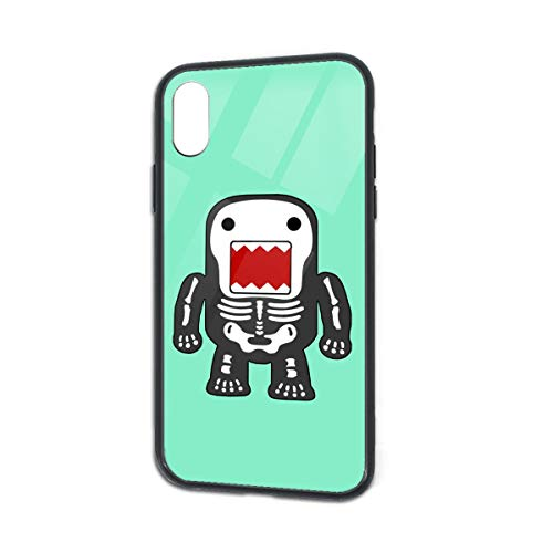Anti-Scratch Funny Cool Domo-kun Skeleton Soft Silicone TPU Phone Case for iPhone X iPhone -