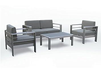 Set sofas de terraza inox Ohio: Amazon.es: Jardín