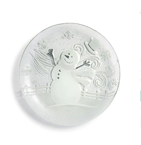 (DEMDACO Seasons White and Glitter Snowman Round)