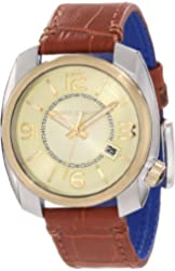 Vince Camuto Men's VC/1001CHTT The Pilot Champagne Dial Date Function Two-Tone Watch