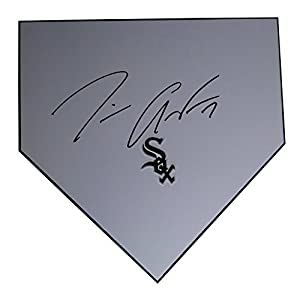 Chicago White Sox Tim Anderson Autographed Hand Signed Baseball Home Plate Base with Proof Photo of Signing and COA