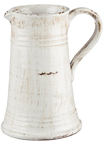 London Home Décor Rustic Cream Decorative Pitcher - 8x10 Inches