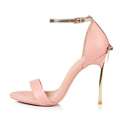 Mujer Fina Cm Sandalias 8 Alto Pink Tacón Cinta dqxxTwWfp