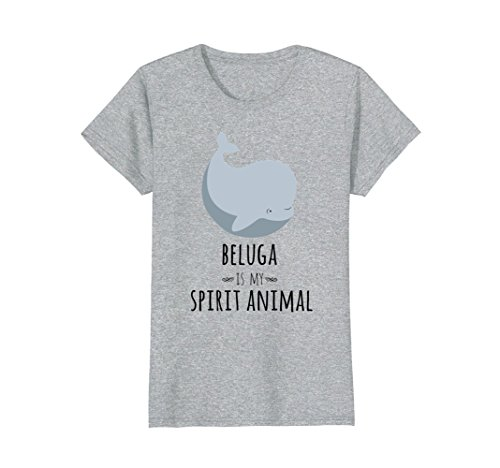 Beluga Whale (Womens Beluga Whale Is My Spirit Animal Funny Whale T-Shirt Small Heather Grey)