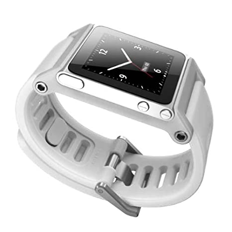 0c15f1ea57416 Alienwork Pod2Watch Armband für iPod nano 6 Watchband Uhr-Kits Aluminium  weiss AN607-01