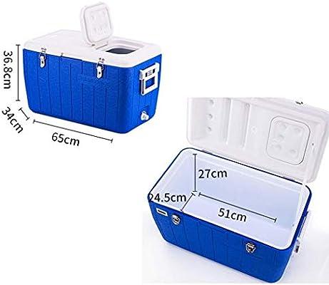 Caja para Enfriador De Camping - Plástico Multifunción Creativo con Pantalla De Temperatura - Caja De Aislamiento para Viajes En El Hogar - Picnic Al Aire Libre - Azul: Amazon.es: Deportes y aire libre