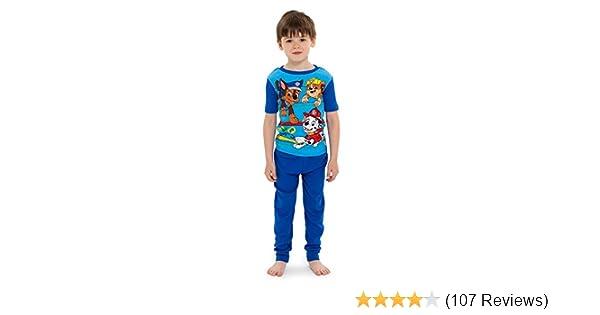 a19e20949a Amazon.com  Nickelodeon Boys  Paw Patrol 4-Piece Cotton Pajama Set ...