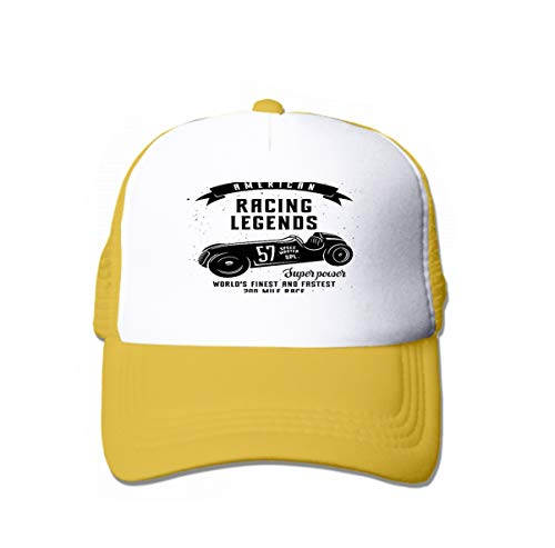 Classic Cotton Dad Hat Adjustable Plain Cap Custom Denim Baseball Cap for Adult Racing car Speed Racer Graphic American Race Vintage Poster Yellow
