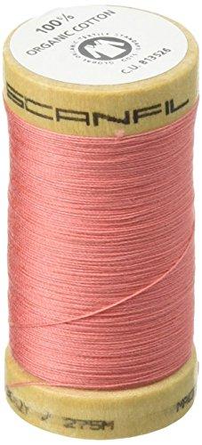 Organic Cotton Thread 300 Yards-Salmon - 07 Salmon