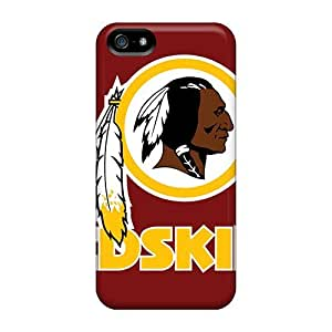 Ultra Slim Fit Hard L.M.CASE Case Cover Specially Made For Iphone 5/5s- Washington Redskins