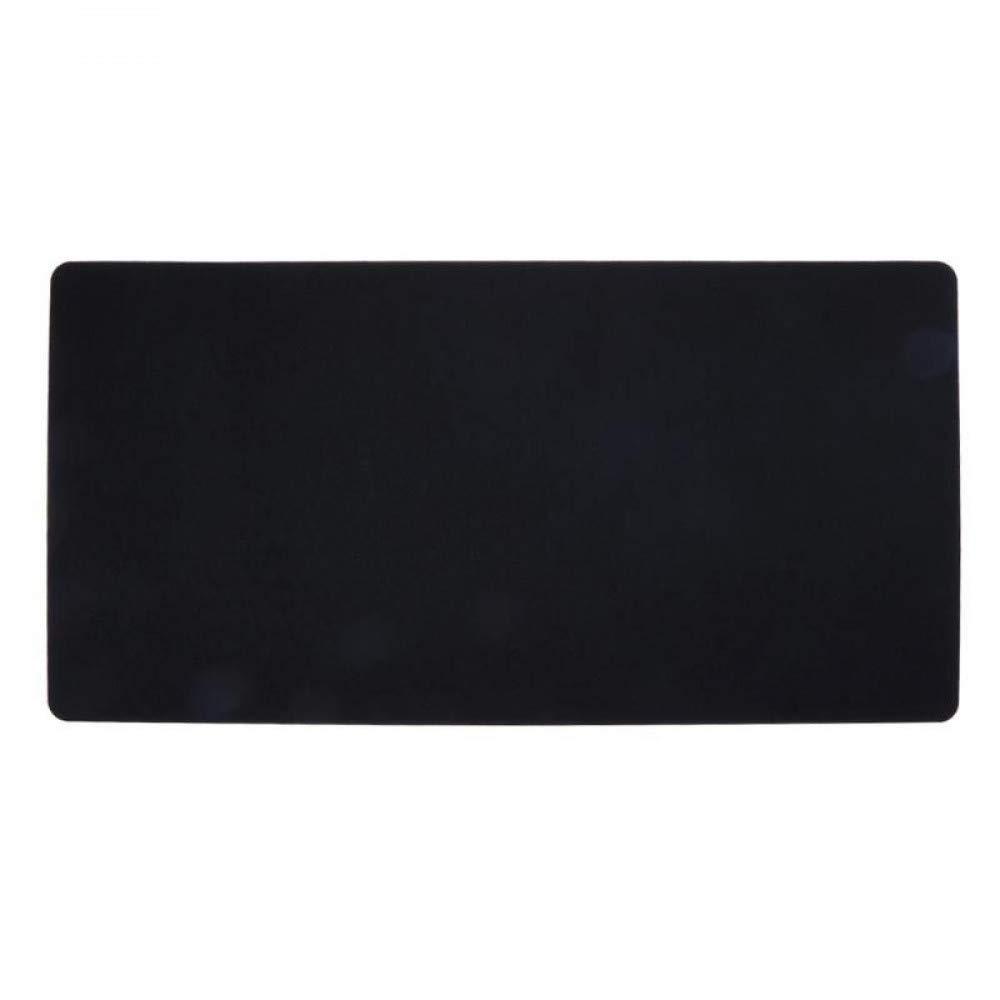 Alfombrilla de fieltro para ratón, sólido, tamaño grande, color sólido, ratón, 630 x 325 mm, negro 8922ab