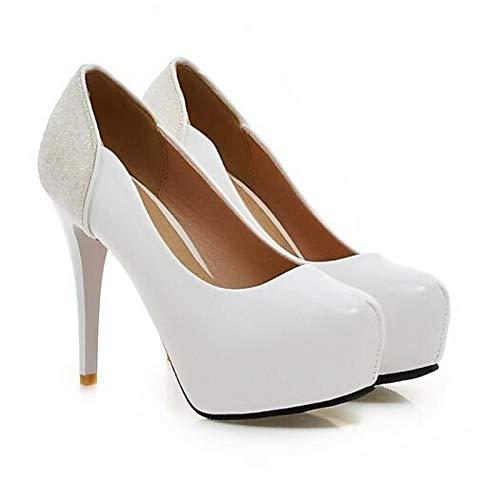 Rosa Spring Mujer Comfort de Heels PU ZHZNVX Blanco Poliuretano Heel Negro Stiletto White nEqAxPXFw