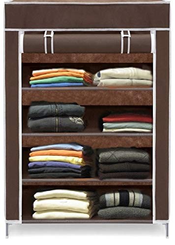 Cmerchants High Fiver Metal Collapsible Wardrobe/Shoe Rack (Portable, Multipurpose)�