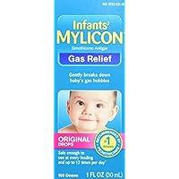 Gotas de alivio de gas Mylicon para bebés y bebés, fórmula original, 1 onza líquida