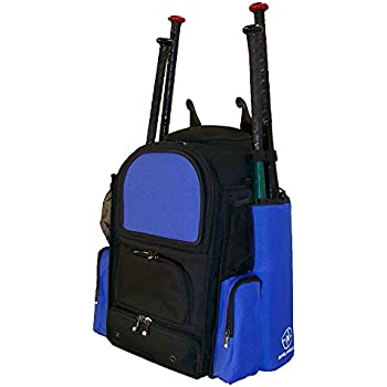 MAXBALLBAGS New Teen Medium Vista M in Black and Royal Blue Softball  Baseball Bat Equipment Backpack with Removable Bat Sleeves and Embroidery  Patch 52cd94f862