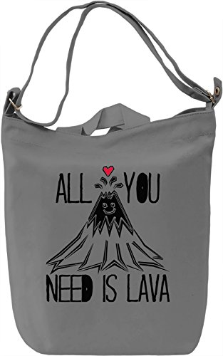 All You Need Is Lava Borsa Giornaliera Canvas Canvas Day Bag| 100% Premium Cotton Canvas| DTG Printing|