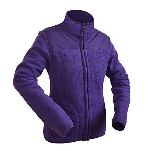 Danea Deco Women Fleece Jacket Full-Zip Ultra Soft Breathable Lightweight Windproof Outerwear Fitted Sport Sweater Sweatshirt