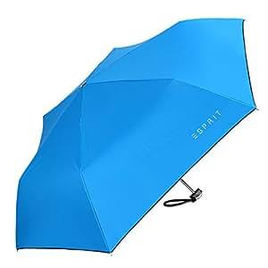 Mini Anti-UV Tres Plegable Compacto A Prueba De Viento Bolsillo Viajes Sol Lluvia Paraguas.,Blue