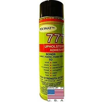 1 can polymat 777 12oz aerosol spray glue fast tack adhesive for upholstery foam. Black Bedroom Furniture Sets. Home Design Ideas