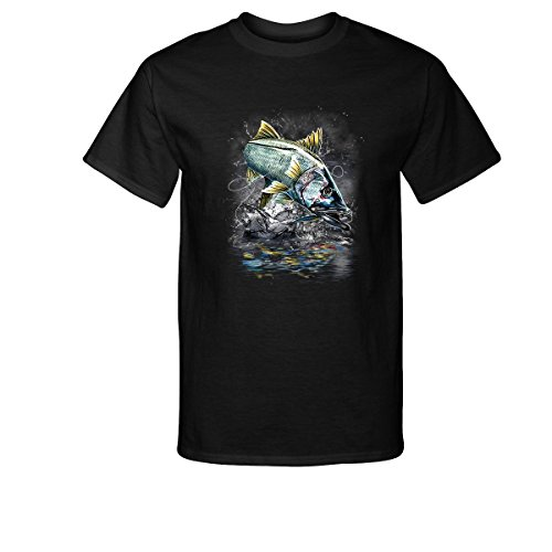 DCDS Jumping Snook Fishing T-Shirt (Screen Snook Tee)