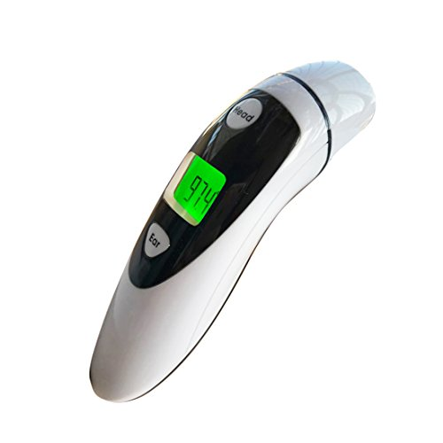 MUMUBREAL Medical Forehead Thermometer and Ear Thermometer - Accurate and Instant Measuring Professional Infrared Thermometer for Baby and Adults with FDA and CE Approved