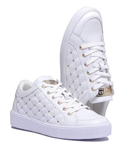 Blanco White Guess Zapatillas Flgln3 Lea12 HqUMax