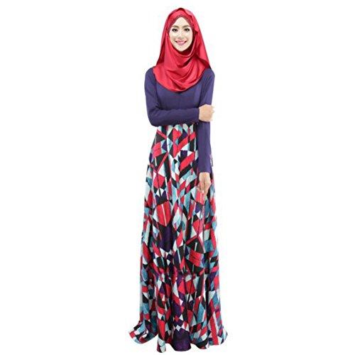2c7b437f7e 50%OFF Weixinbuy Islamic Muslim Abaya Women Floral Maxi Partywear Dresses