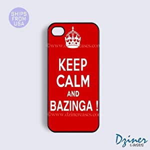 iPhone 5c Tough Case - Keep Calm Bazinga iPhone Cover by lolosakes