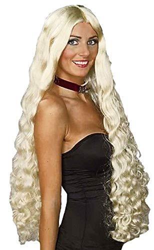 Lady Godiva Wig Halloween Costume (Forum Novelties Women's Mesmerelda Long Curly Princess Costume Wig, Blonde, One)