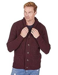 Urban Release Men's Chunky Knit Sweater Cardigan M-2XL
