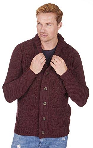 [해외]도시 출시 남자의 Chunky 니트 스웨터 가디건 M - 2XL/Urban Release Men`s Chunky Knit Sweater Cardigan M-2XL