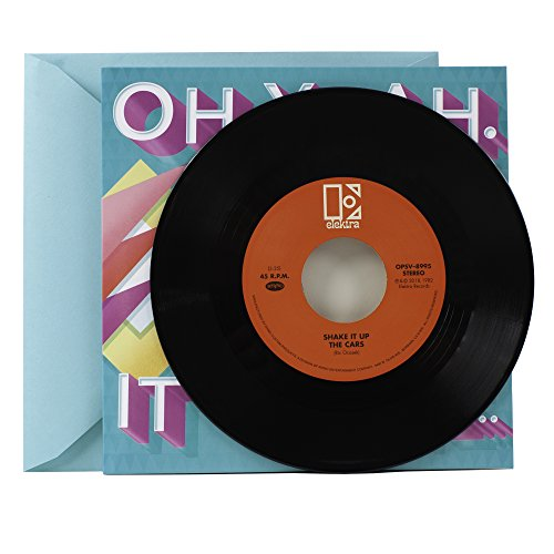 Birthday Record - Hallmark Birthday Greeting Card with Vinyl Record (Real The Cars 45 Record and 2 Songs)