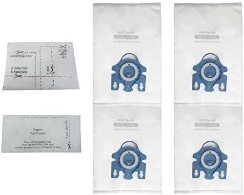 EFP HEPA Bag for Miele GN AirClean 3D Efficiency HyClean Cloth 4 Vacuum Bags 2 Filters