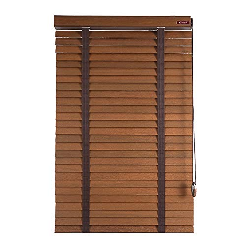 Basswood Blinds Rolling Shutter Blackout Study Bedroom Office Louver Waterproof Bamboo Curtain, Size Customization (Size : 100X160cm)
