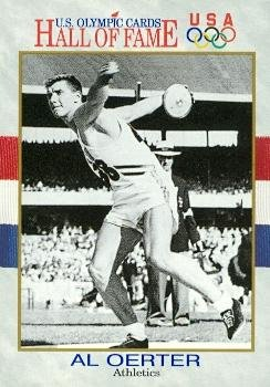 Al Oerter trading card (Olympic USA Discus Gold Medal) 1991 Hall of Fame #4