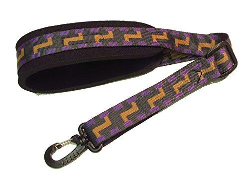 Steps (Tan/Black) Neoprene padded Saxophone strap with locking swivel snaphook for Alto Tenor or Soprano Sax Model SSXW by Legacystraps