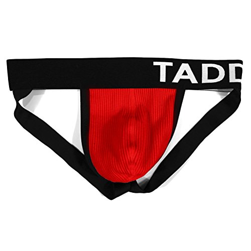 (Taddlee Sexy Mens Black Low-Rise Jock Strap Stretch Briefs Thong Underwear Pouch)