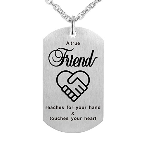 A True Friend Reaches for Your Hand and Touches Your Heart - Friendship Necklace