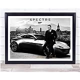 ぶら下げ絵画 ー映画 007 スペクター ポスター サイズ:43x33cm(額縁を送る)