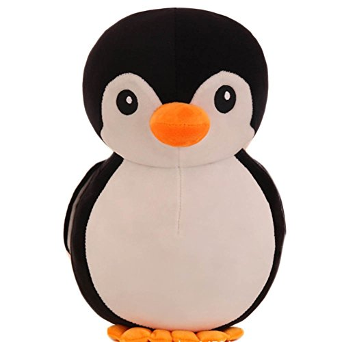 Babique Penguin Plush Soft Toy Cute Kids Animal Home Decor Boys/Girls 28 cm (Black)